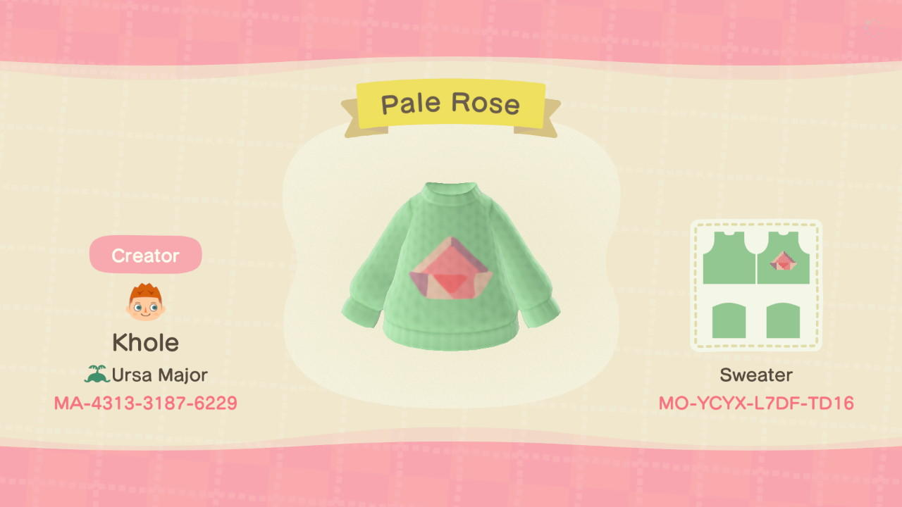 Pale Rose - Animal Crossing: New Horizons Custom Design