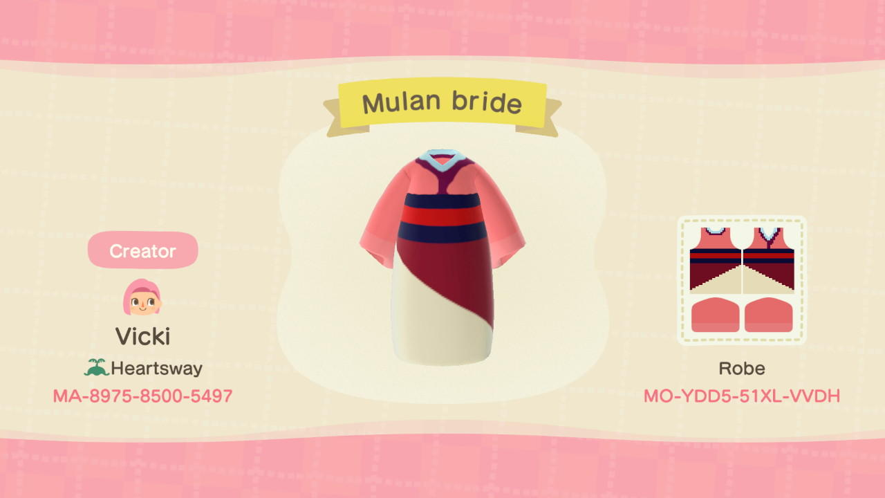 Disney Mulan Bride - Animal Crossing: New Horizons Custom Design