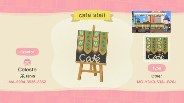 Cafe stall - Animal Crossing: New Horizons Custom Design