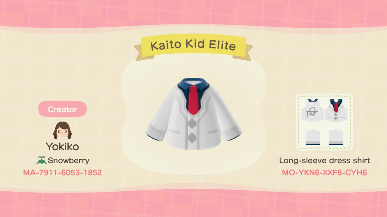 Kaito Kid Elite - Animal Crossing: New Horizons Custom Design