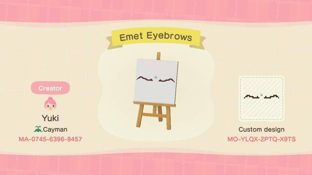Emet Eyebrows - Animal Crossing: New Horizons Custom Design