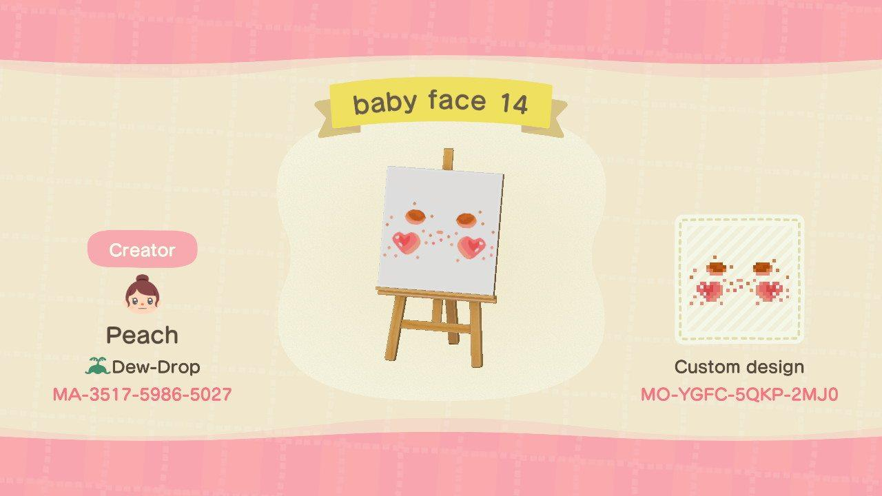 baby face 14 - Animal Crossing: New Horizons Custom Design