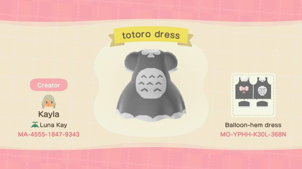 Totoro Dress - Animal Crossing: New Horizons Custom Design