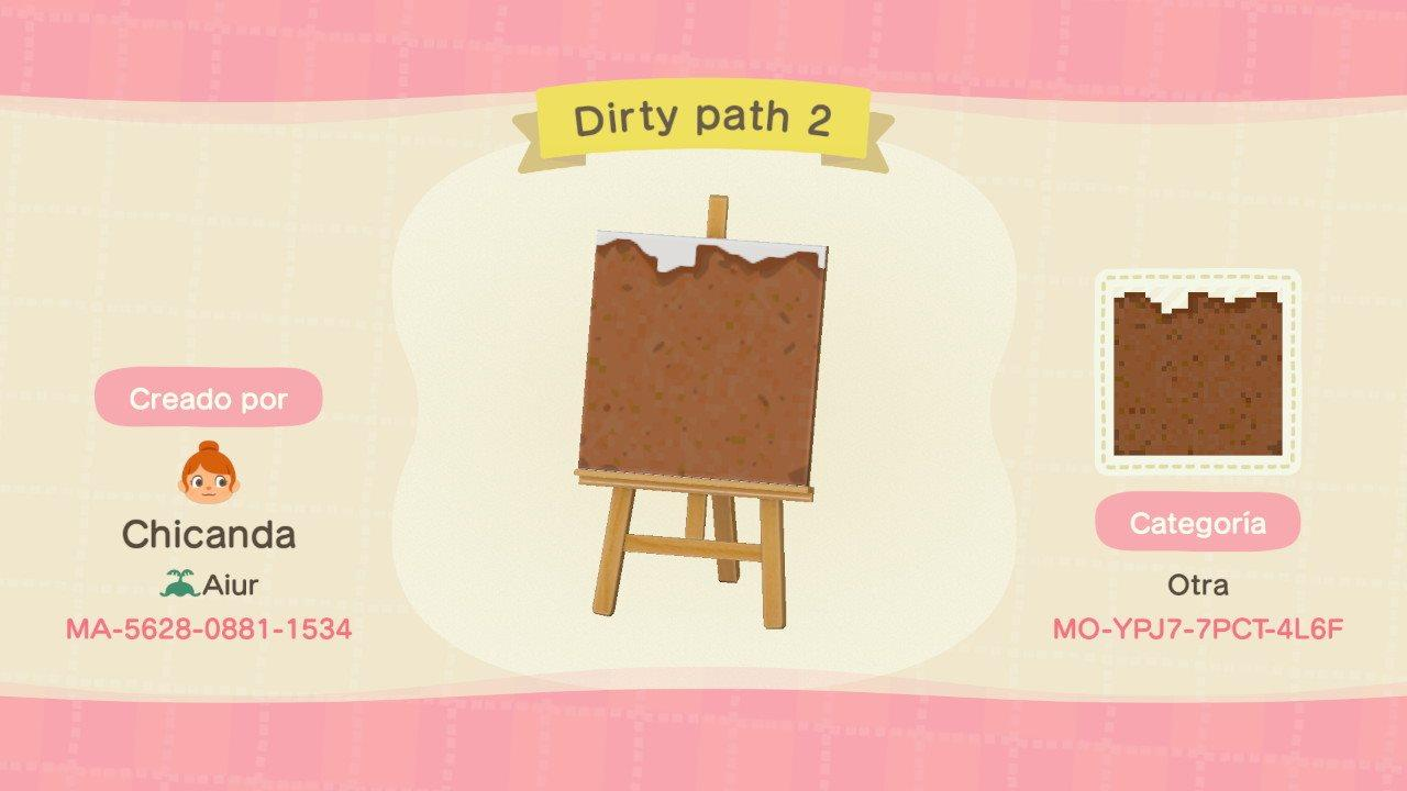 Dirty path 2 - Animal Crossing: New Horizons Custom Design