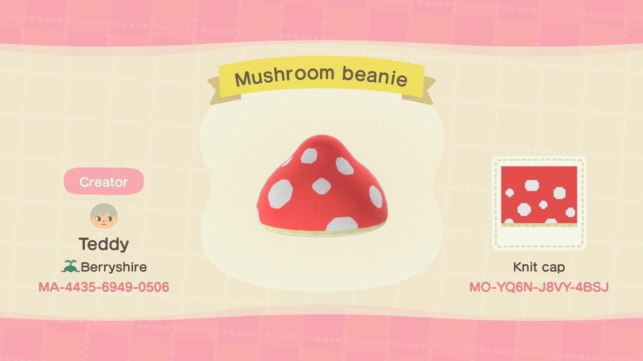 Mushroom beanie - Animal Crossing: New Horizons Custom Design