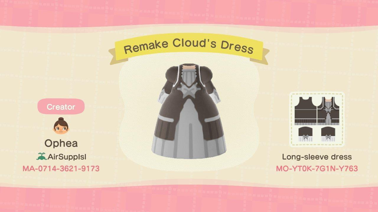 Remake Clouds Dress - Animal Crossing: New Horizons Custom Design