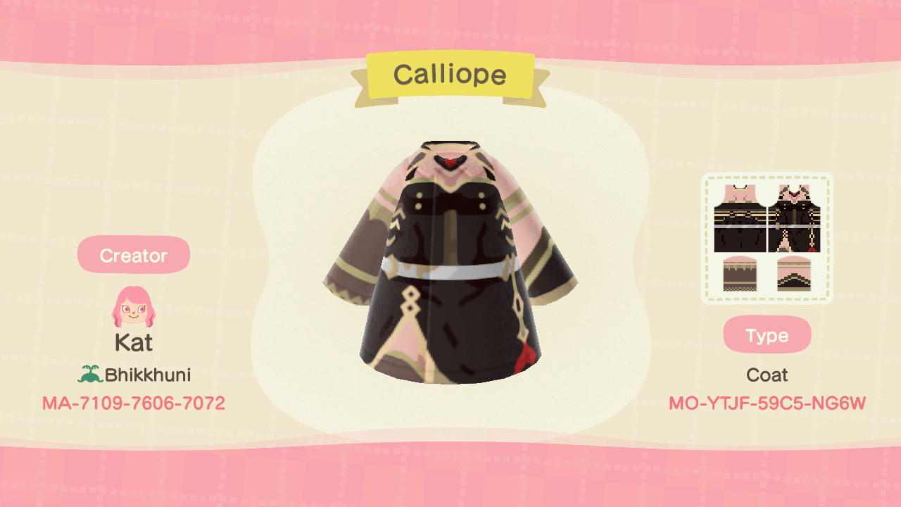 Calliope (HOLOLIVE) - Animal Crossing: New Horizons Custom Design