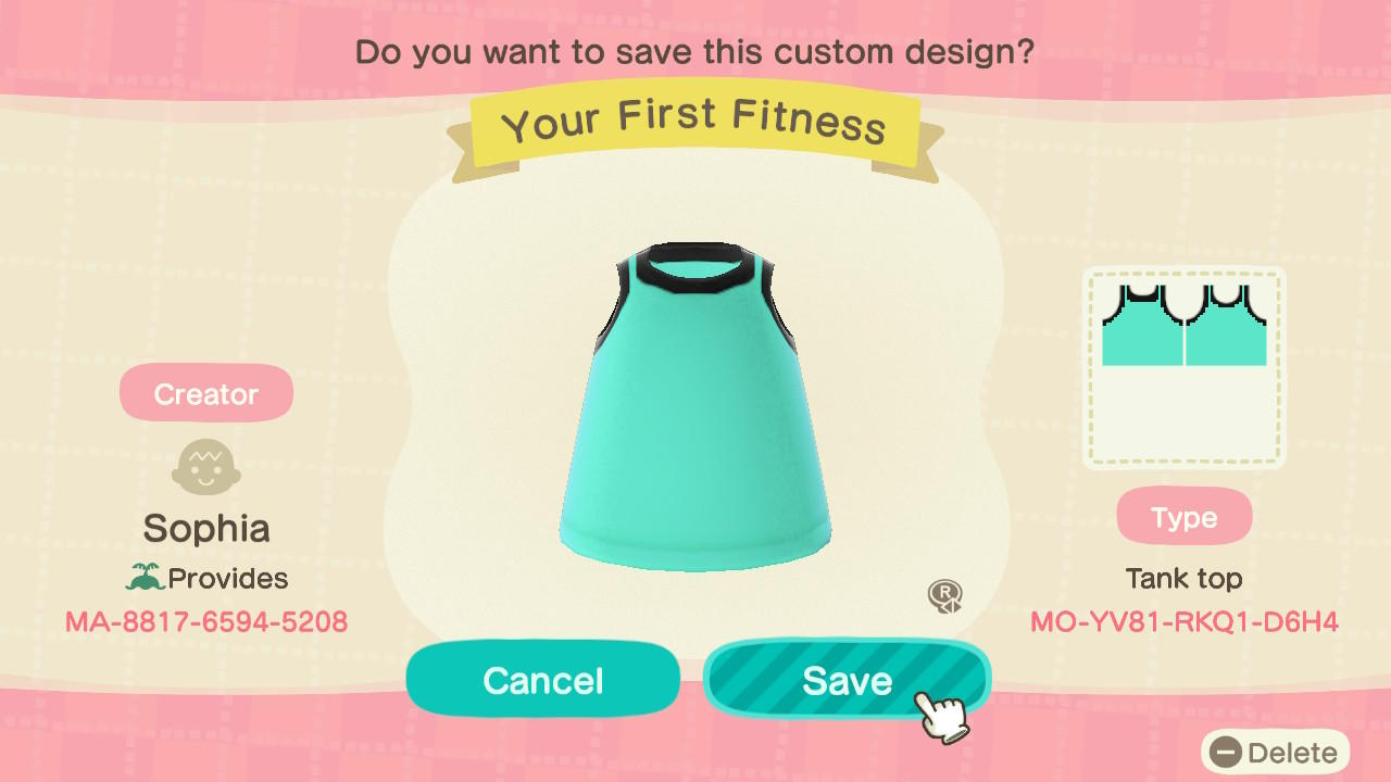 Your First Fitness - Animal Crossing: New Horizons Custom Design