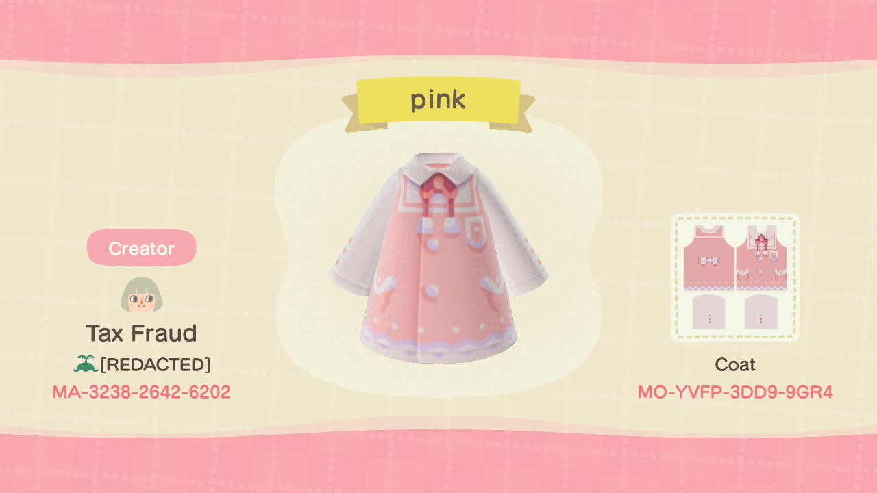 pink - Animal Crossing: New Horizons Custom Design