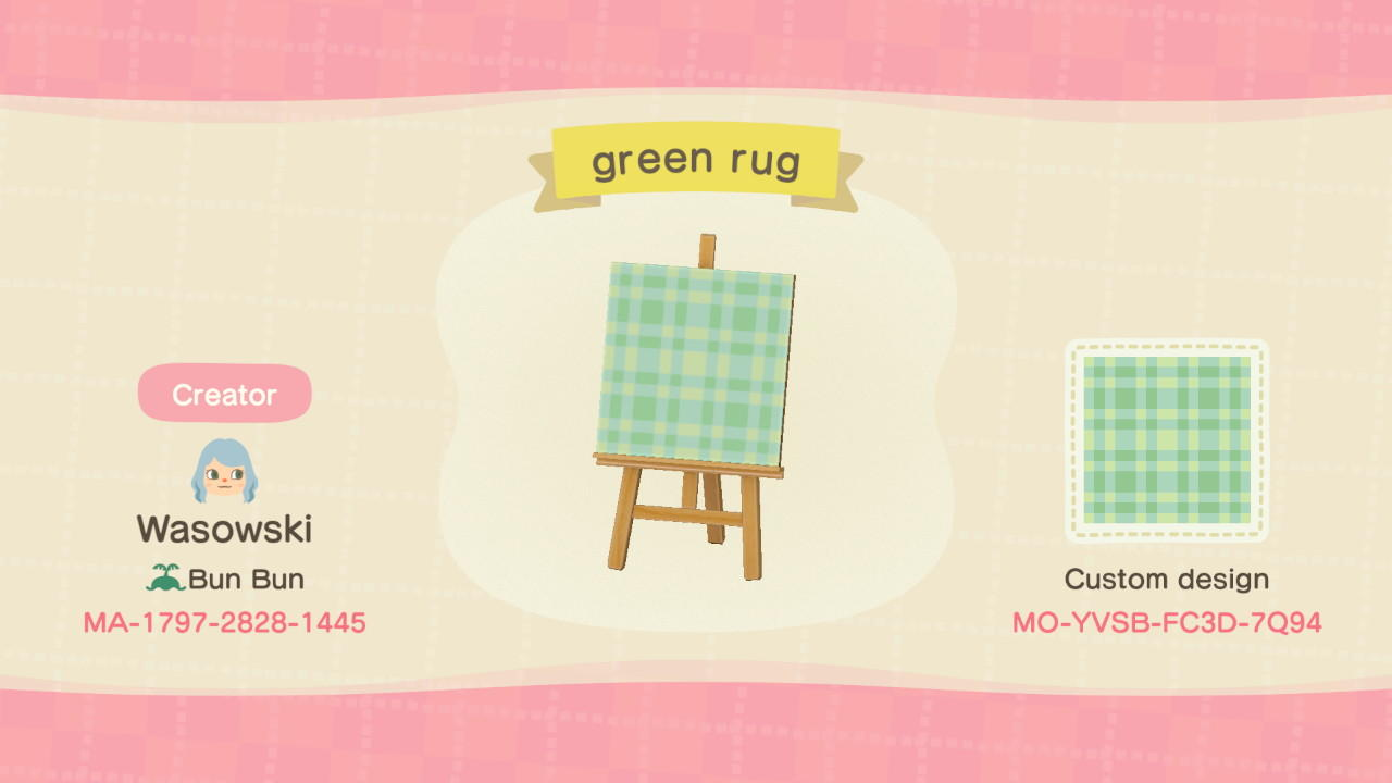 Green Rug Animal Crossing New
