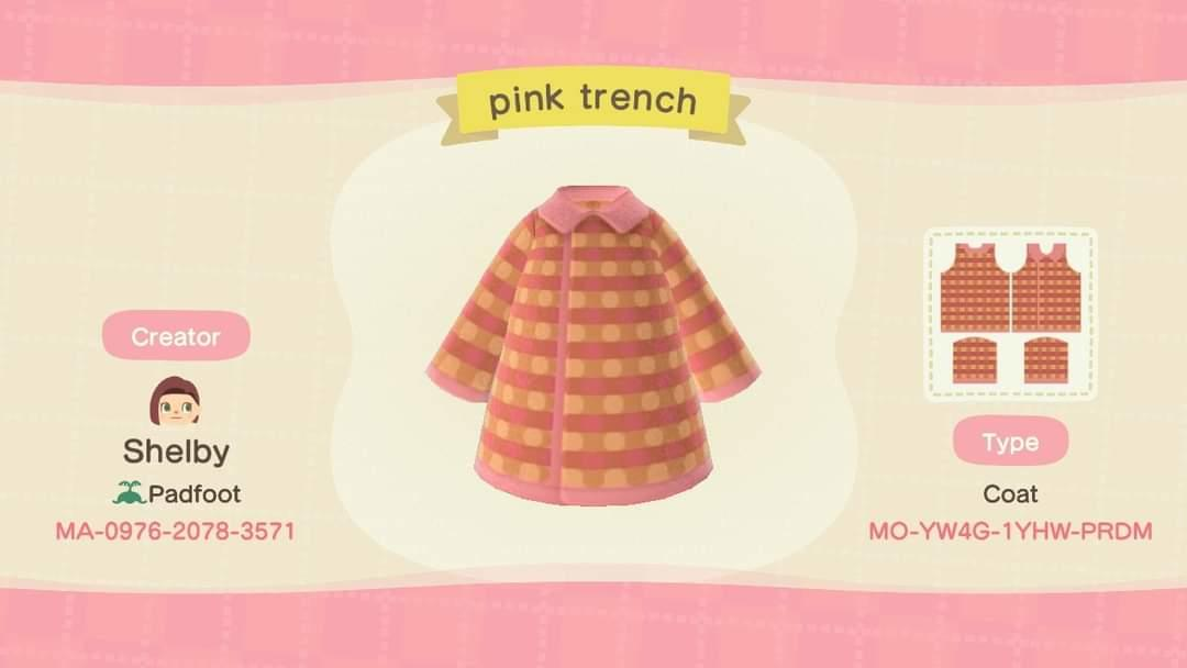 Pink Trench - Animal Crossing: New Horizons Custom Design