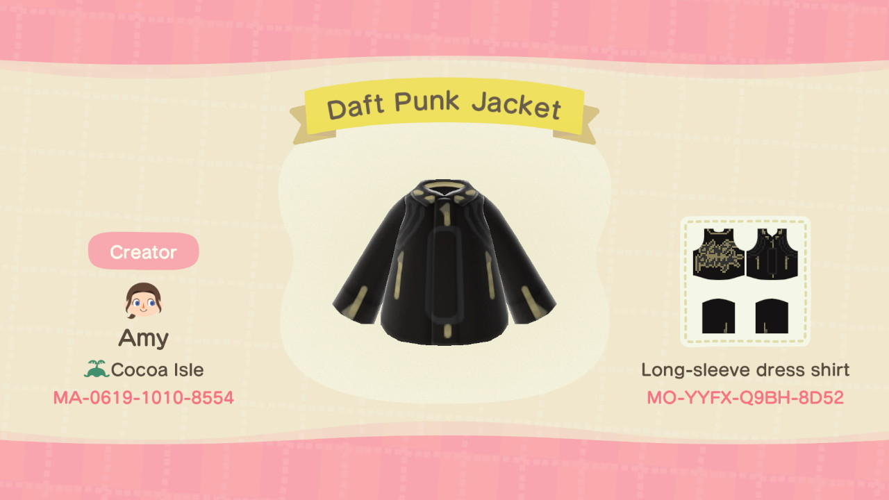 Daft Punk Jacket - Animal Crossing: New Horizons Custom Design